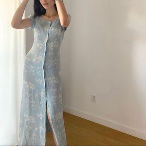 ESPRIT 100% Silk Floral Gown -Size 7/8 (NWT)